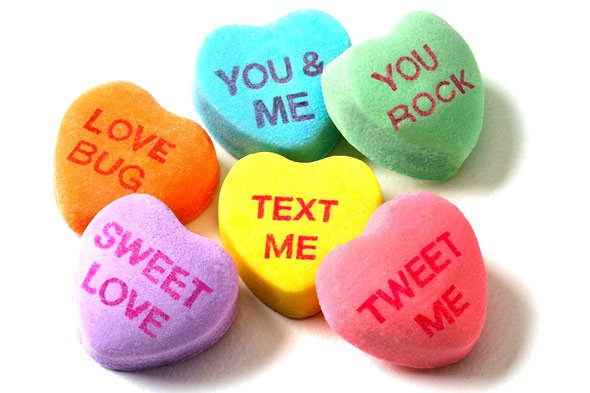 candy hearts valentine