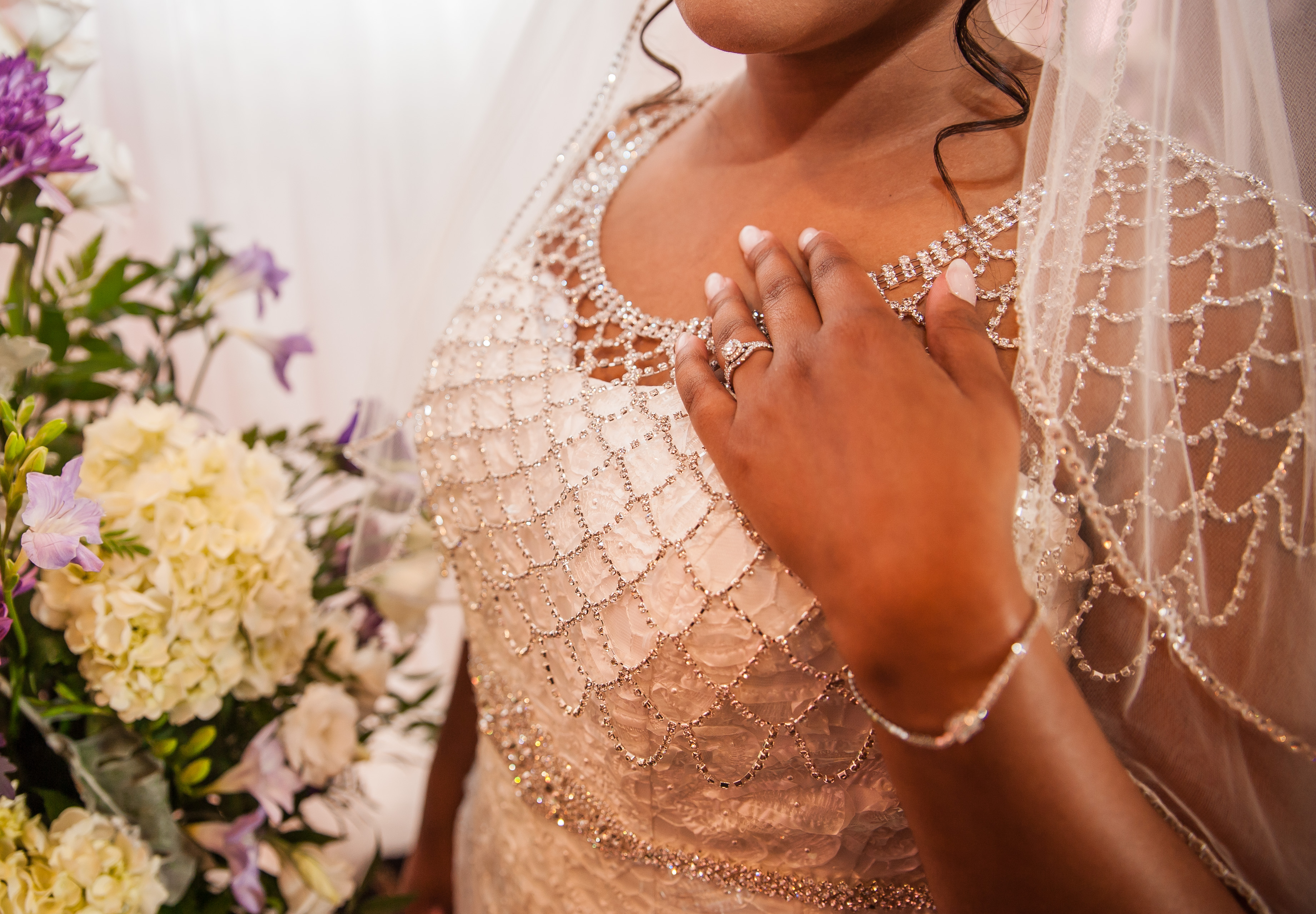Vintage Beaded Gown Overlay