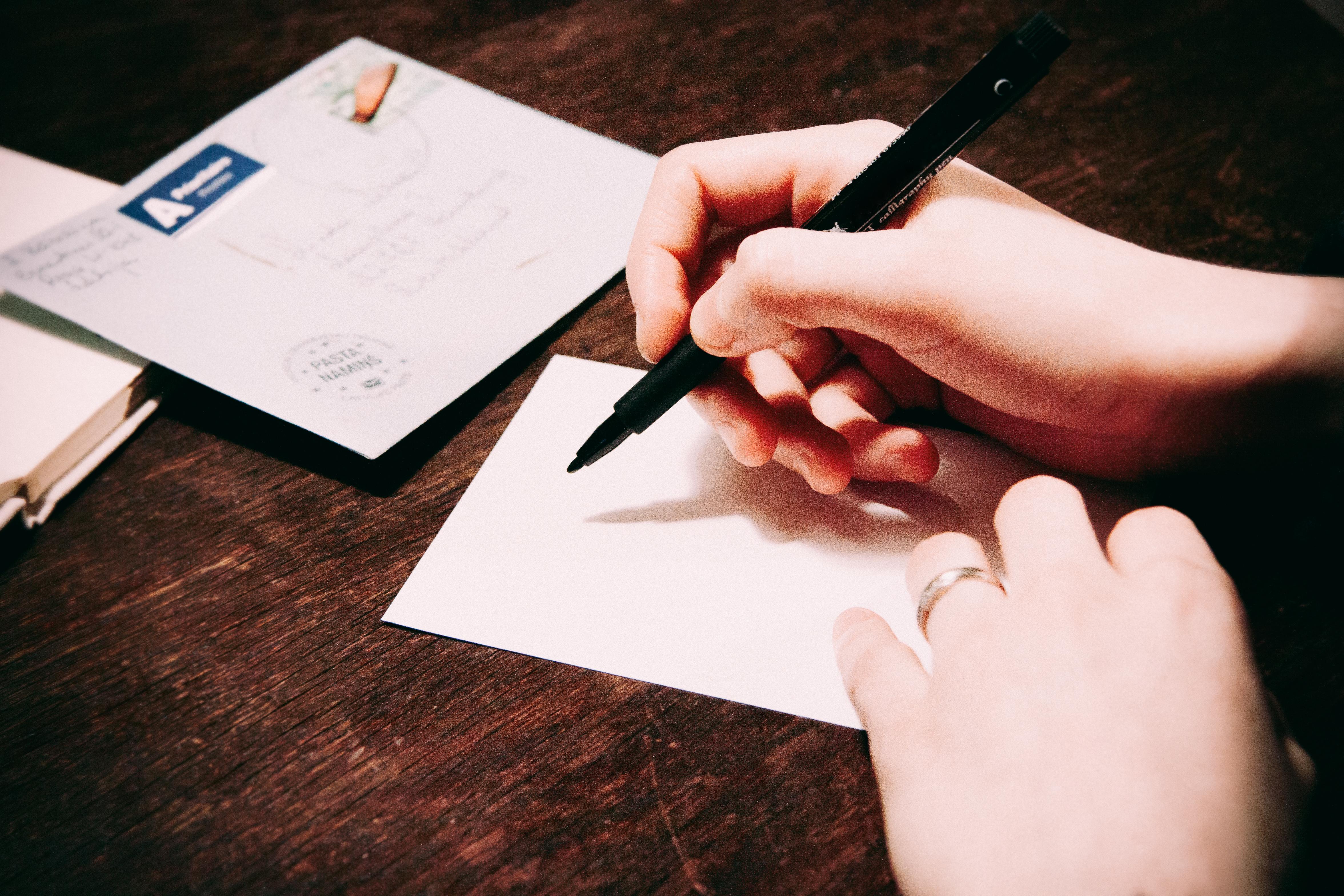 Invitation Calligraphy Stationery Handwritten