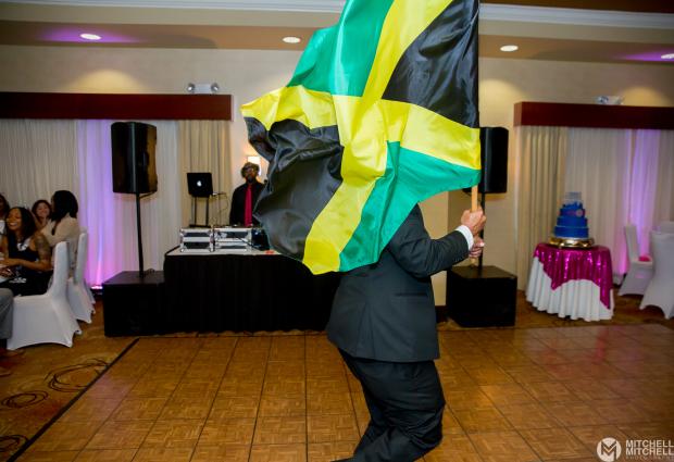 Jamaican Flag at Wedding